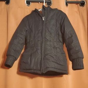Girls Size 4 winter coat black sparkly
